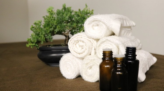 Swedish Hill Farm and Spa rolled towels