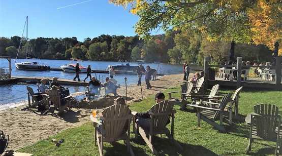 Lake Local Beach in Autumn