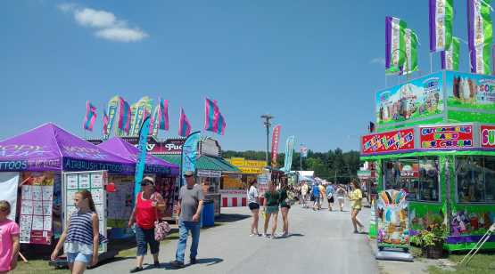 Saratoga County Fair midway