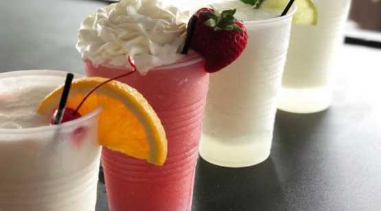 Dango's row of tropical drinks