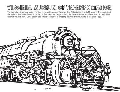 Virginia Museum of Transportation - Coloring Sheet