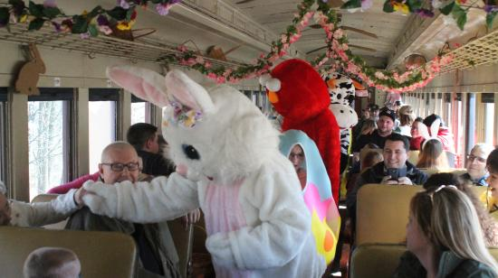 Easter Bunny Express Trains-Cooperstown & Charlotte Valley Railroad