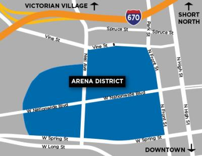 Arena District Neighborhood Map
