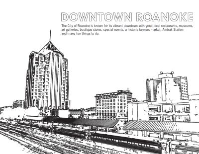 Downtown Roanoke - Coloring Sheet