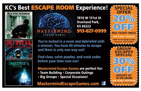 Mastermind Escape Room Coupon