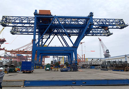 Three super post-panamax gantry cranes are being constructed in China.