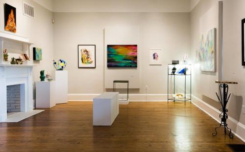 Spruill Gallery Interior with Art