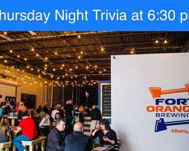 Thursday Night Trivia at Fort Orange Brewing