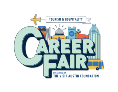 Visit Austin Foundation Tourism and Hospitality Career Fair Logo