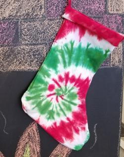 Create a unique tie dye stocking!