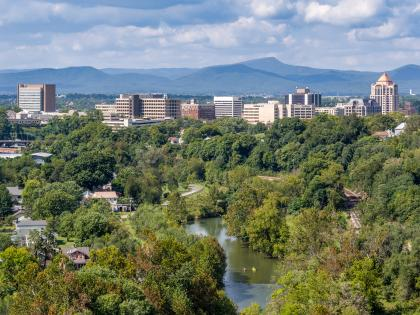 Roanoke Virginia Skyline