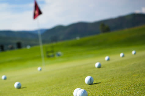 Golf is a popular activity is Steamboat Springs, Colorado
