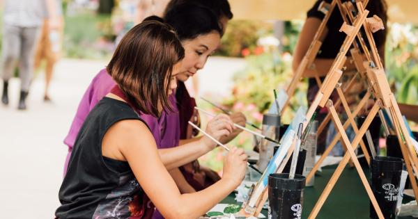 Family painting at Taste of the Arts