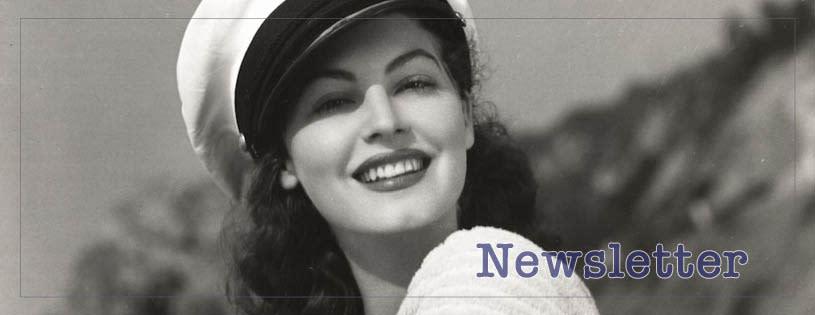 Ava Gardner Newsletter banner