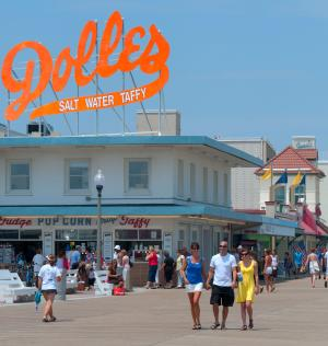 Rehoboth Beach Delaware Boardwalk at Dolles
