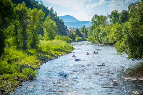 Tubing the Yampa River