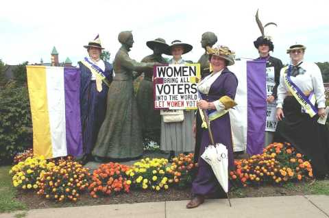 Peterboro Bloomer Brigade in Seneca Falls