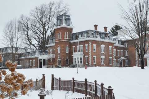 The Oneida Community Mansion House in Winter