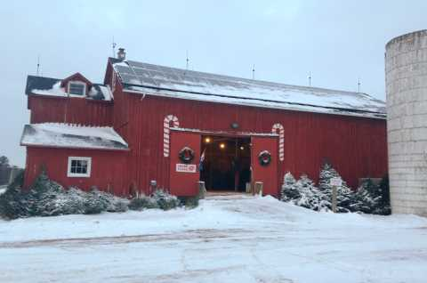 Barn at Christmas