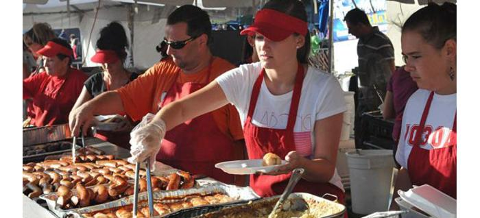 Chefs serving food at Taste of Polonia in Chicago