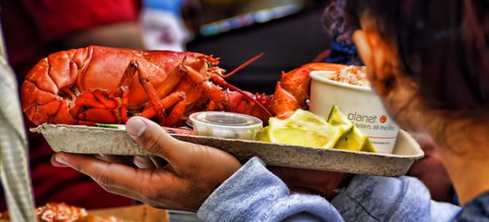 Lobster dish at The Great American Lobster Fest in Chicago