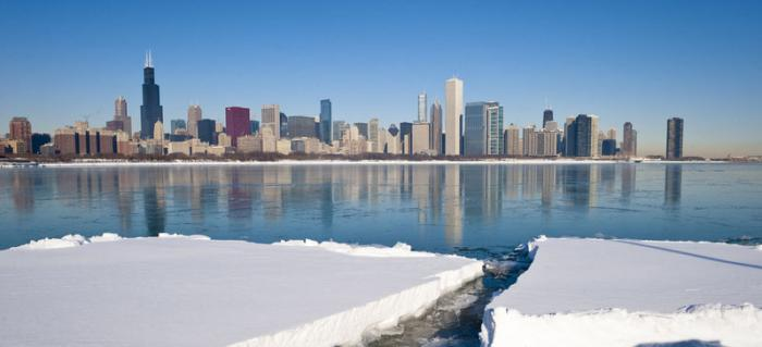 Chicago Winter Skyline