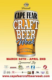 Cape Fear Craft Beer Week poster 2017