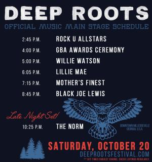 Deep Roots 2018 music