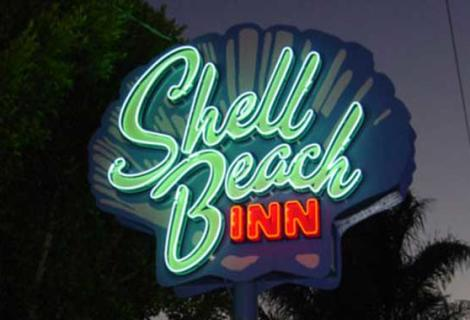 Shell Beach Inn Sign