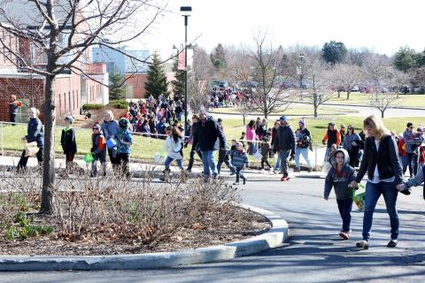 town of Chili egg hunt at Robers Wesleyan College