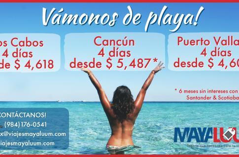 Disfruta las playas mexicanas a un super precio
