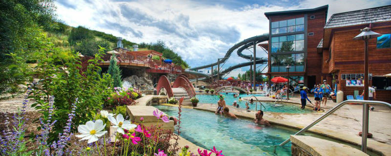 Old Town Hot Springs is ideal for families in the summer