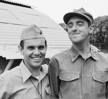 "Ronnie Schell and Jim Nabors from ""Gomer Pyle, U.S.M.C."" (photo courtesy of Ronnie Schell Facebook page)"