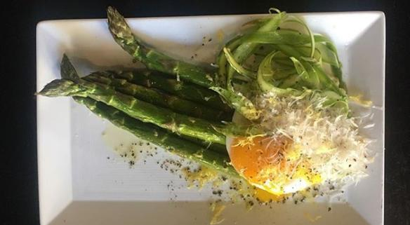 Asparagus and Duck Egg