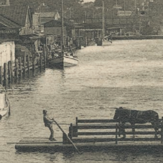 Historic Image of an African-American Ferryman on the Cape Fear River