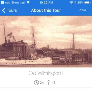 Screenshot of Wilmington.Tours Mobile APp