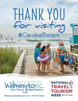 National Tourism Week 2019 Carolina Beach poster image
