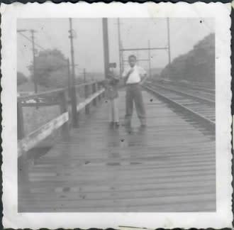 Cousins at Yardley Train - Shirley Lee