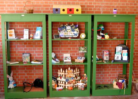 Shipley Nature Center's gift shop has a selection of souvenirs to remember your excursion! (Photo by Lauren Lloyd)