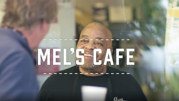 mels cafe poster