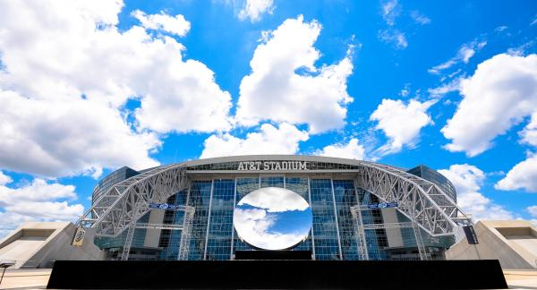 Exterior View of AT&T Stadium With Sky View