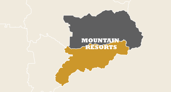 Map of Little Cottonwood in Mountain Resorts