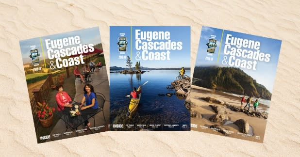 Eugene, Cascades & Coast Visitor Guide Covers