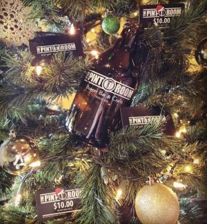 Pint Room Christmas Gift Cards on Tree