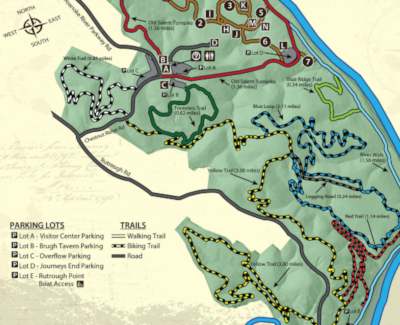 Explore Park Trail Map