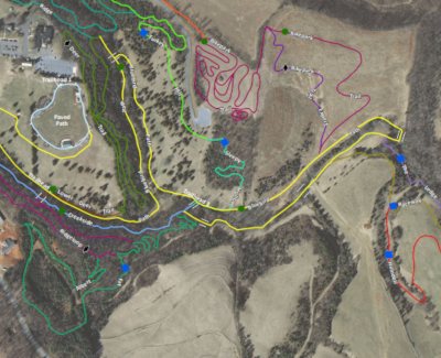 Falling Creek Park Trail Map