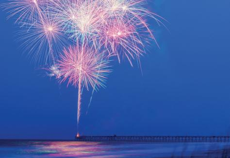 Oak Island Accommodations_fireworks