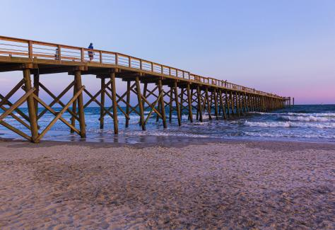 oak_island_pier_beach_sunset