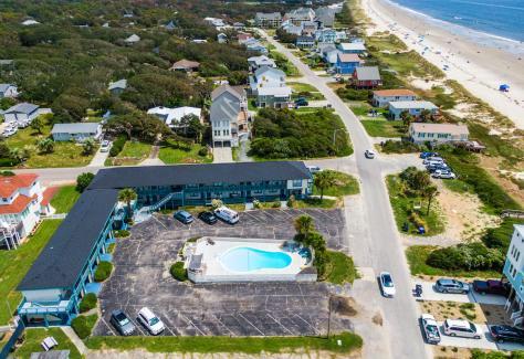 The Beach House at Oak Island aerial 2