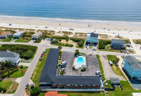 The Beach House at Oak Island aerial